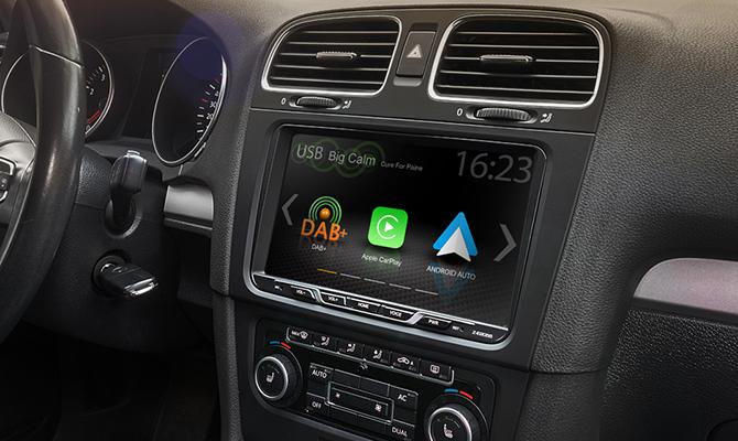 """Autorádio Zenec Z-E2055 VW / Škoda / 9""""skleněný displej/CarPlay/AndroidAuto"""