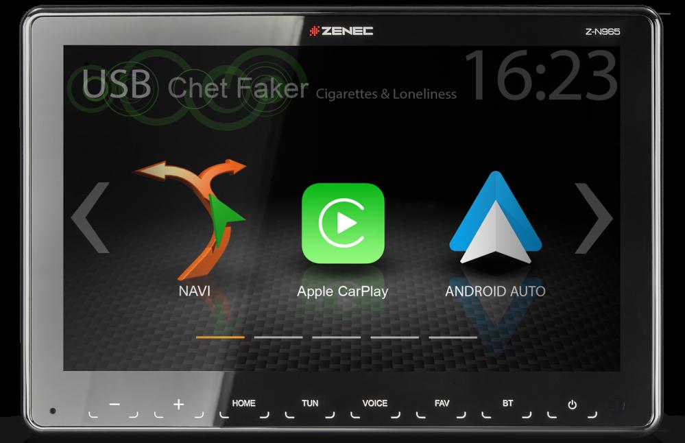 """Autorádio Zenec Z-N965 - 1DIN s 9"""" TFT HD"""