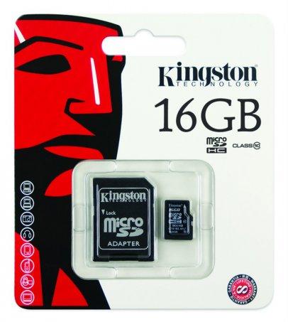 Paměťová karta KINGSTON micro SDHC 16GB class 10