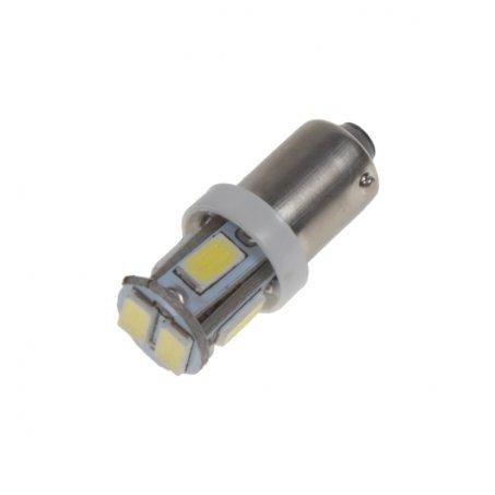LED žárovka 12V s paticí BA9s bílá, 5LED/3SMD