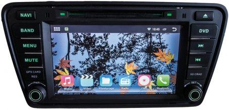 "Autorádio pro Škoda Octavia III 2014- s 8"" LCD, Android 4.4.2, WI-FI, GPS"