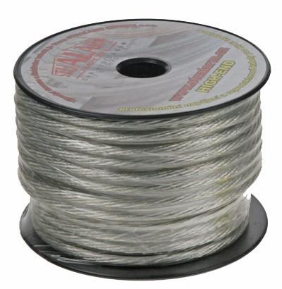 Kabel 10 mm, stříbrně transparentní
