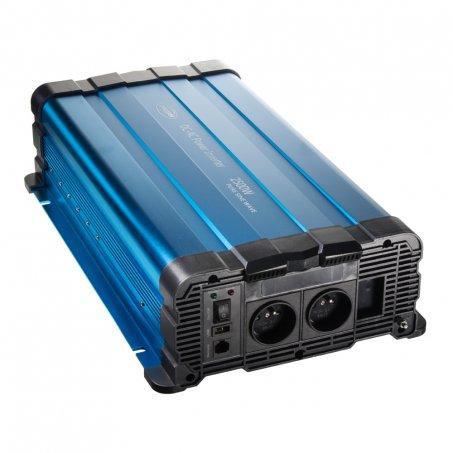 Sinusový měnič napětí z 12/230V, 2500W / dálkové ovládání s displejem
