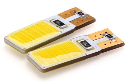 COB LED T10 bílá, 12V, wedge