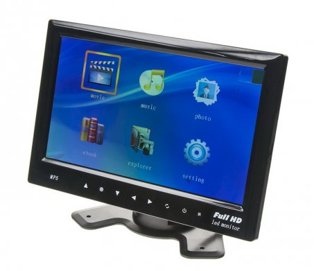 "LCD monitor 7"" s microSD/USB/FM"