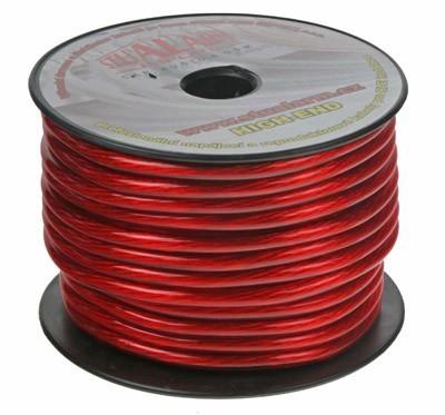 Kabel 10 mm, červeně transparentní