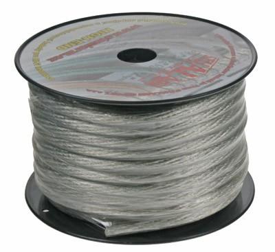 Kabel 20 mm, stříbrně transparentní