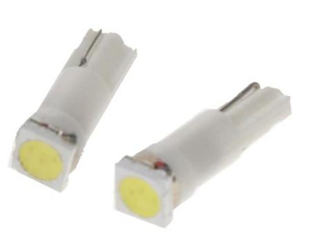 LED žárovka 12V s paticí T5 bílá, 1LED/3SMD