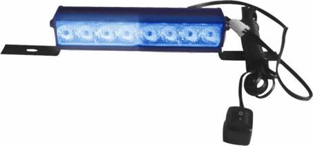 LED světelná alej, 8x LED 1W, modrá 175mm