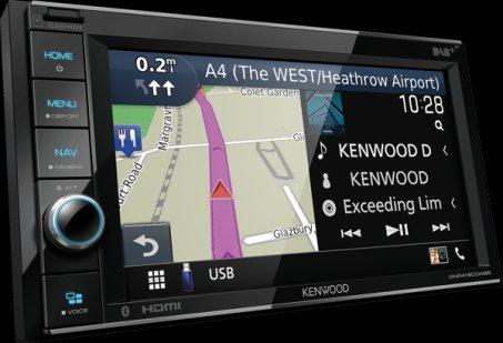 Autorádio s navigací a CarPlay Kenwood DNR-4190DABS