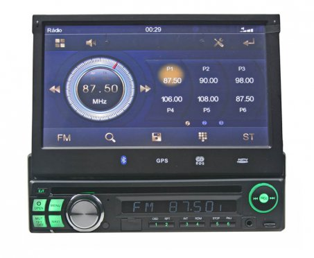 1DIN DVD autorádio ,bluetooth , SD/USB/FM/DUAL-GPS/RDS/CZ MENU