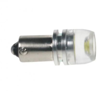 LED žárovka 12V s paticí BA 9s bílá, 1LED/6SMD