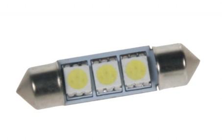 LED žárovka 24V s paticí sufit (36mm) bílá, 3LED/3SMD