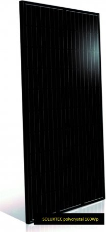 Solární panel Soluxtec 160Wp/12V Full Black