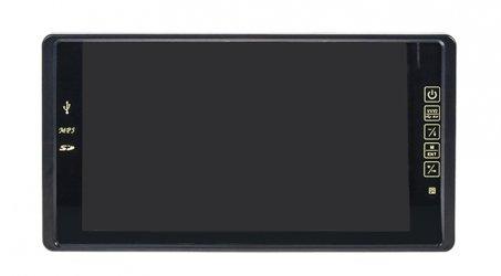 """Monitor pro couvací kameru 9"""" LCD s USB / SD na zrcátko"""