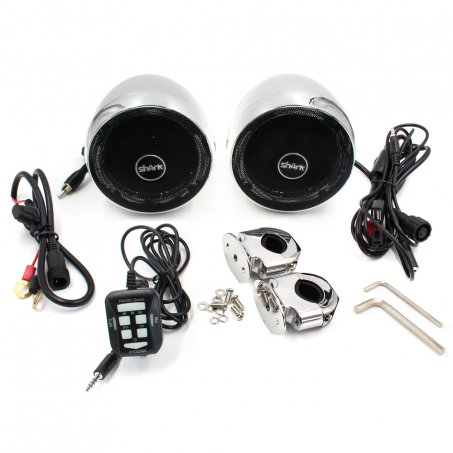 Reproduktory pro motorku / skůtr - USB