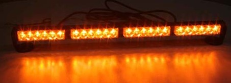 LED světelná alej, 24x 1W LED, oranžová 645mm