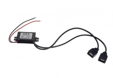 Měnič napětí 12/5V, 3A 2x USB