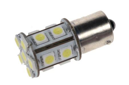 LED žárovka 12V s paticí BAU 15S bílá, 16LED/3SMD