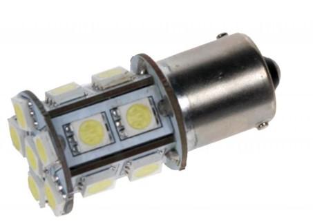 LED žárovka 24V s paticí BA 15S bílá, 16LED/3SMD