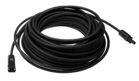 Solární kabel SOL 6.0 mm2 černý 20m s koncovkami