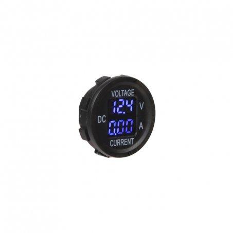 Digitální ampérmetr a voltmetr 5-48V modrý