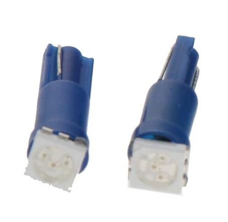 LED žárovka 12V s paticí T5 modrá, 1LED/3SMD