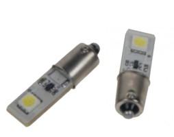 LED žárovka 12V s paticí BA 9s bílá, 2LED/3SMD