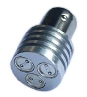 LED žárovka 12V s paticí BAU 15S bílá, 3LED