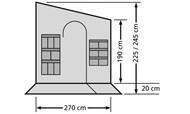 bočnice / dělící stěna k markýze 270 cm