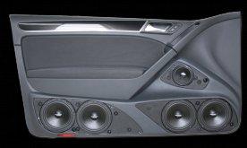 VW Golf 6 (2dv) - dveřní panely s 3pásmovým SoundSystémem