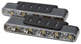 LED světla pro denní svícení, 160x25mm, ECE