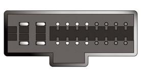Konektor ISO Kia Sephia NEW 96>
