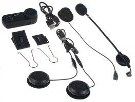 Bluetooth handsfree sada do helmy univerzální / interkom 1200m