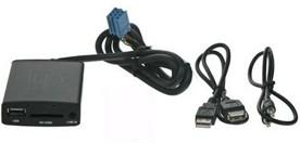 PEUGEOT / CITROEN Adaptér pro ovládání USB zařízení OEM rádiem Peugeot, Citroen/AUX vstup