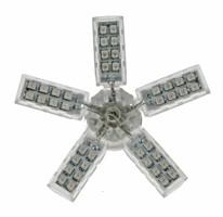 LED vějíř 12V s paticí BAU15S bílý, 55LED/SMD