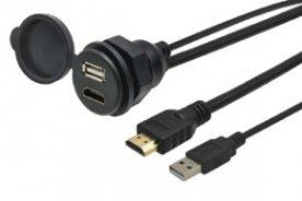 USB / HDMI zásuvka s kabelem