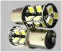 LED žárovka 12V s paticí BAU15S bílá, 19LED/3SMD