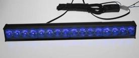 LED světelná alej, 16x LED 1W, modrá 380mm