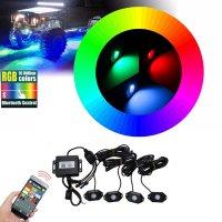 LED podsvětlení podvozku RGB 12/24V, Bluetooth, 12x3W