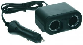 dvojitá CL zásuvka s kabelem 100cm a CL zástrčkou
