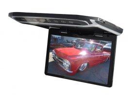 """Stropní LCD monitor 12,1"""" černý s HDMI/microSD/IR/FM"""