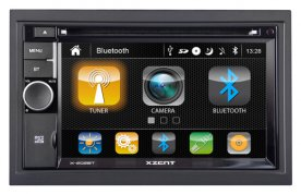 ZENEC XZENT X-202BT (mk2) 2DIN autorádio s CD, DVD, USB, Bluetooth