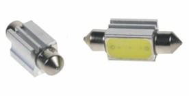 LED žárovka 12V s paticí sufit(39mm) bílá, 3G-1W