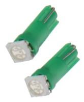 LED žárovka 12V s paticí T5 zelená, 1LED/3SMD