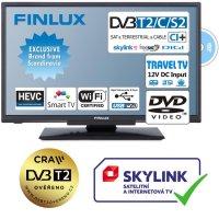 "Televize Finlux 24"" TV24FDM5760-T2 SAT DVD SMART WIFI 12V-"