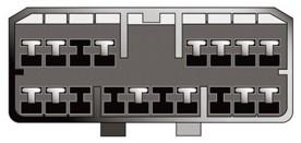 Konektor ISO Chevrolet/Daewoo 97>, Ssangyong některé modely
