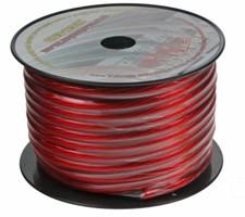 Kabel 20 mm, červeně transparentní