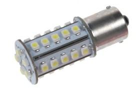 LED žárovka 12V s paticí BA 15s bílá, 30LED/1SMD