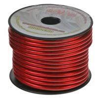 Kabel 6 mm, červeně transparentní